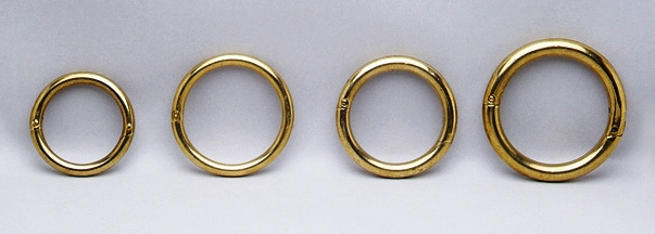 "Brass Nose Bull Ring 3/"" X 5//16/"" Self Piercing Locking"
